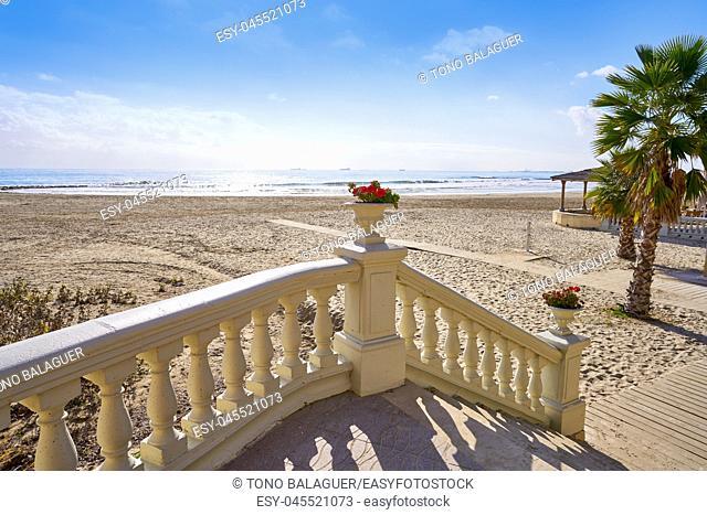 Benicassim Voramar playa beach in Castellon of Spain also Benicasim