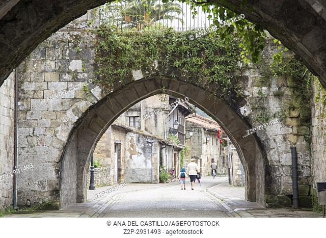 Cartes is a medieval village in Cantabria Spain on June 30, 2017
