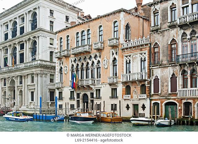 Palazzi, Canal Grande, Venice, Veneto, Italy