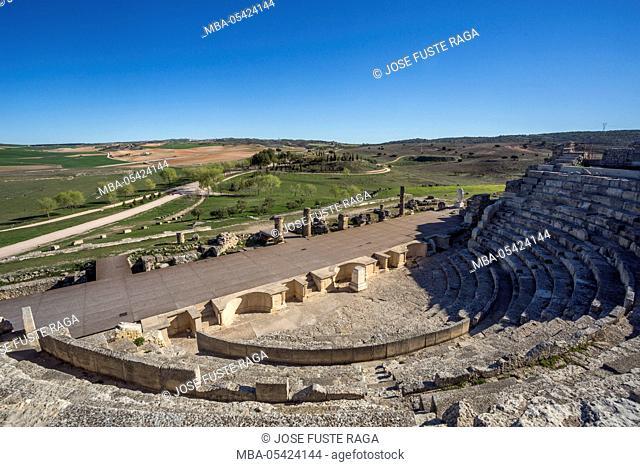 Spain, Cuenca Province, Roman ruins of Segobriga City, The Theatre