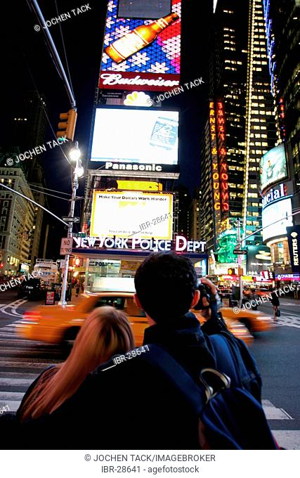 USA, United States of America, New York City: Times Square