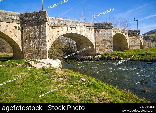 Bridge over river Duraton. Fuentidueña, Segovia province, Castilla Leon, Spain
