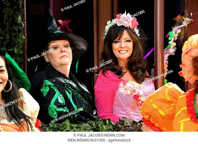 The launch of the Kings Theatre panto in Southsea, Hampshire (near Portsmouth) - Jack and the Beanstalk. The panto stars Vicki Michelle as Peapod