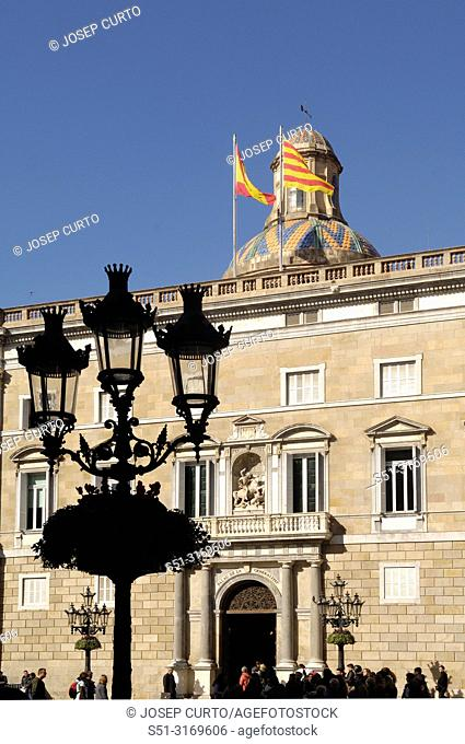 Facade of Palau de la Generalitat ,Barcelona, Spai