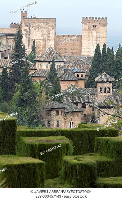 Alhambra. Granada. Andalusia. Spain