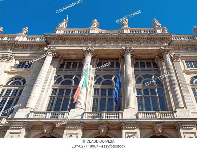 Palazzo Madama (Royal palace) in Piazza Castello Turin Italy