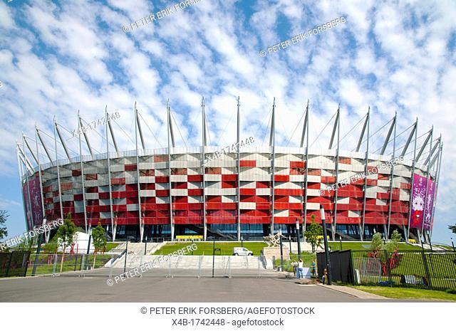 Stadion Narodowy the National Stadium 2012 built for the European football championships Praga district Warsaw Poland Europe