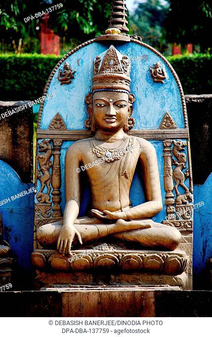 Lord Buddha statue ; Gaya ; Bihar ; India