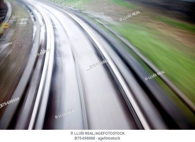 Docklands Light Railway, DLR, London, England, U.K