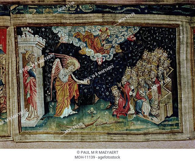 La Tenture de l'Apocalypse d'Angers, Septième trompette : l'Annonce de la Victoire 1,58 x 2,41m, die siebte Posaune: Verkündigung an die vierundzwanzig 24...