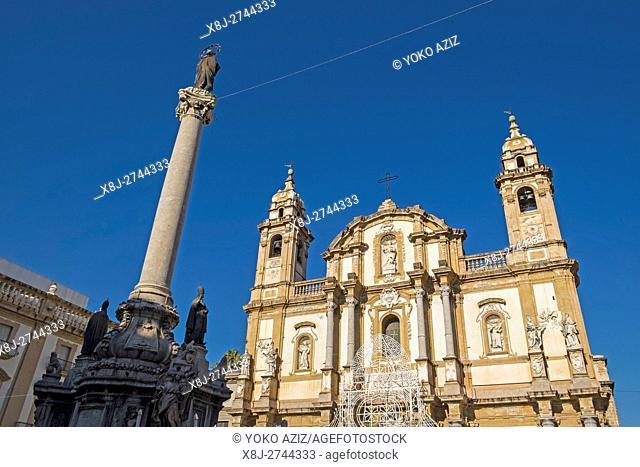 Italy, Sicily, Palermo, San Domenico church