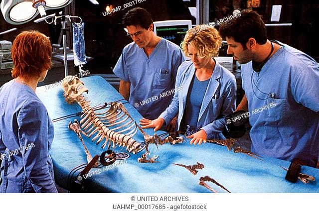 Hollow Man, (HOLLOW MAN) USA 2000, Regie: Paul Verhoeven, KIM DICKENS, JOSH BROLIN, ELISABETH SHUE, GREG GRUNBERG, Stichwort: Wissenschaftler, Skelett, Versuch