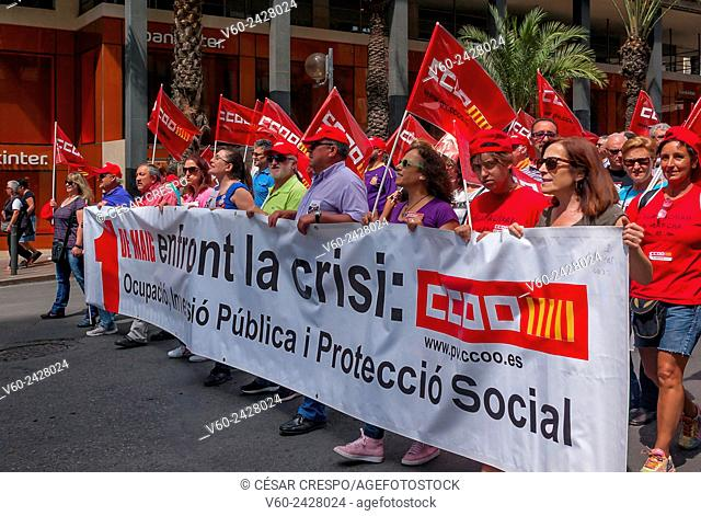 -Demonstration Against Cut's Politic of Mariano Rajoy (Popular Party)- Alicante 1st of May (Spain)