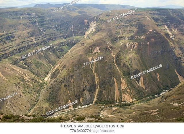 Gazing into the Sonche Canyon at Huancas, Chachapoyas, Amazonas, Peru