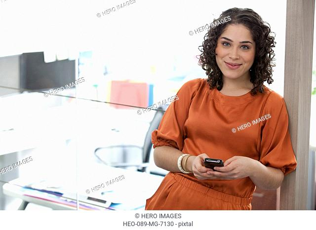 female office worker in modern office
