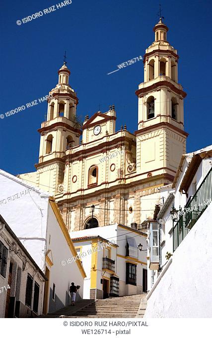 Nuestra Señora de la Encarnacion church (Neo-classical. 19th Centyury). Olvera. Ruta de los Pueblos Blancos. Cádiz. Andalucia. Spain