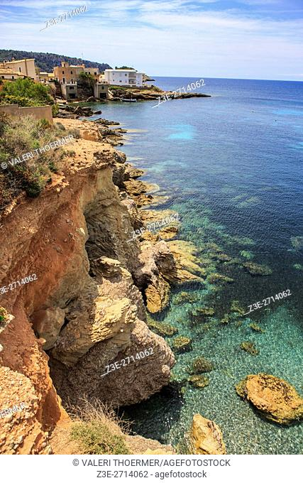 The coast of Mallorca Island, the Balearic Islands in the Mediterranean Sea, Spain