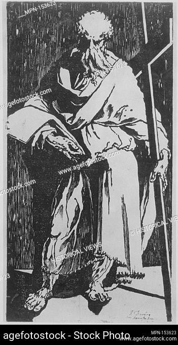 Apostle (Saint Philip or Andrew?). Artist: Domenico Beccafumi (Italian, Cortine in Valdibiana Montaperti 1484-1551 Siena); Date: ca
