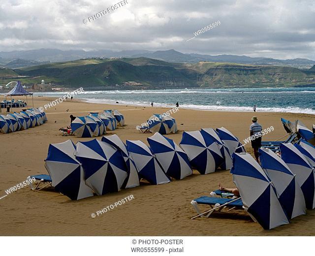 Beach on the Atlantic from Las Palmas de Gran Canaria, Spain