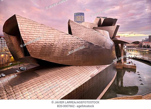 Guggenheim Museum, Bilbao, Bizkaia, Basque Country, Spain, Europe