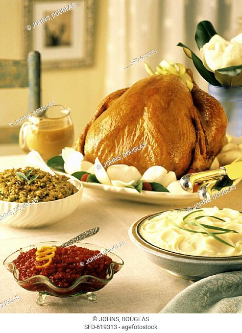 Roast Turkey Dinner for Thanksgiving