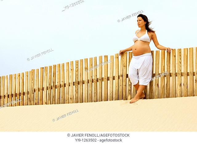 Woman Enjoying Her Pregnancy