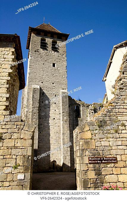Europe, France, Quercy, Lot, 46, Marcilhac sur Cele,entrance to the 11th C Abbey