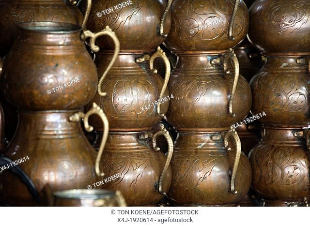 pots in a tea house, Istanbul, Turkey