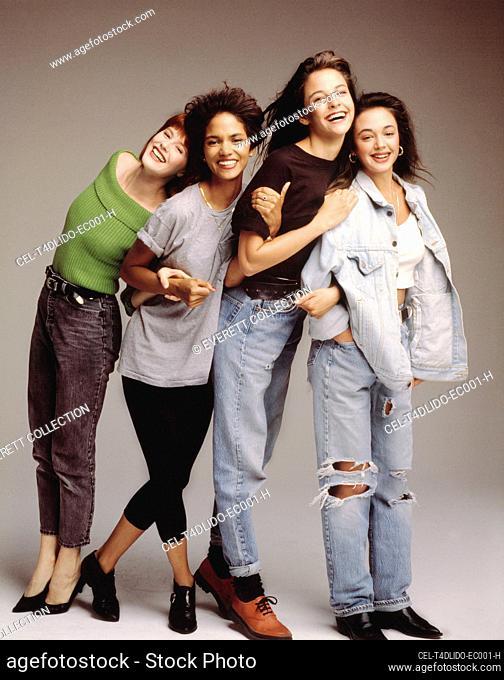 LIVING DOLLS, Deborah Tucker, Halle Berry, Allison Elliot, Leah Remini (l-r), 1989