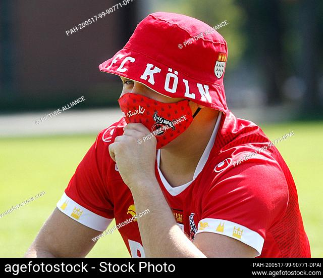 17 May 2020, North Rhine-Westphalia, Cologne: Football: Bundesliga, 1st FC Köln - FSV Mainz 05, 26th matchday in front of the Rhein-Energie-Stadium