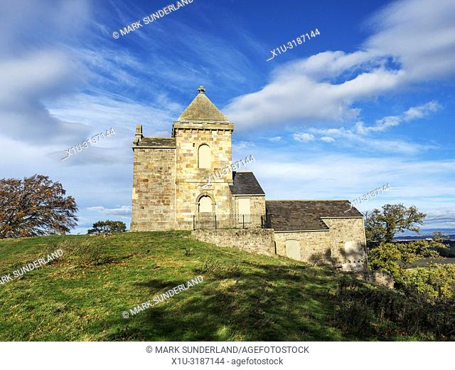 How Hill Tower built on the site of the Chapel of Saint Michael de Monte near Ripon North Yorkshire England