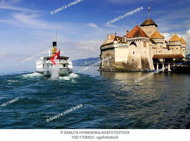 Chillon castle, occupied since Bronze Age, architectural jewel located in the most beautiful setting between the shores of Lake Geneva and the Alps is the most...