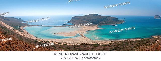 Balos beach Crete panoramic photo