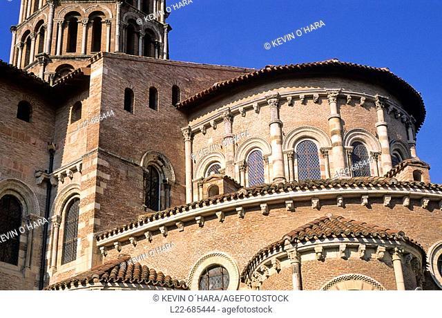 The Saint-Sernin Basilica. City of Toulouse. Haute-Garonne department. Midi Pyrénées region. France