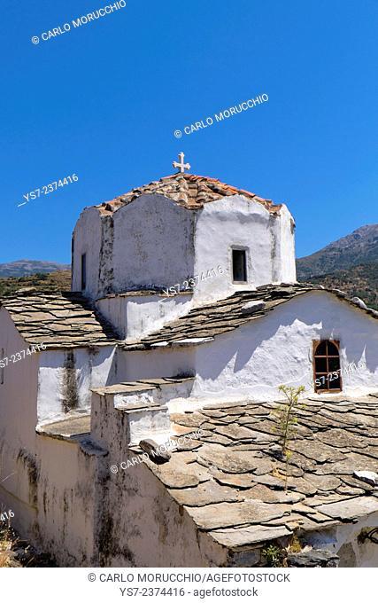 Church of Agia Irini, 12th century, Kambos, Ikaria island, North Aegean islands, Greece, Europe