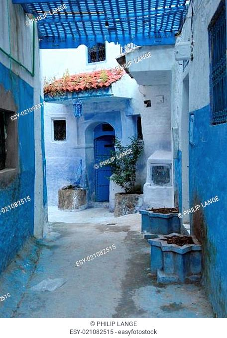 Street in the medina of Chefchaouen, Morocco