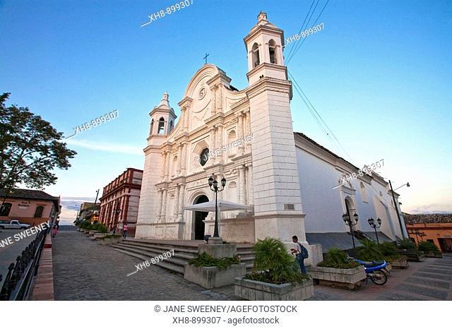 Cathedral church, Central Park, historic town center, Santa Rosa de Copan, Copan, Honduras