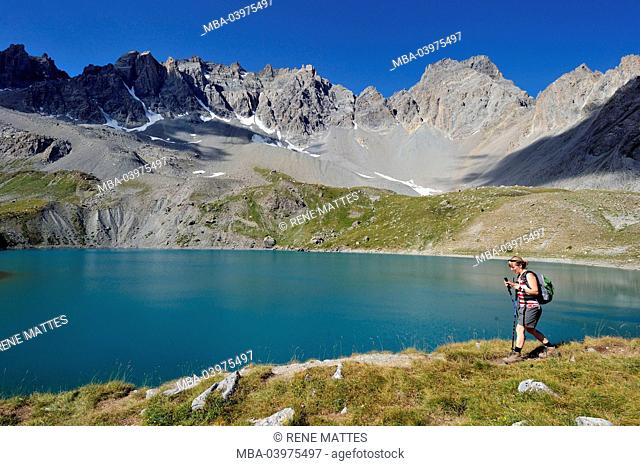 France, Hautes-Alpes, near Ceillac, Lac Sainte-Anne (2415 m), Parc Naturel Regional du Queyras