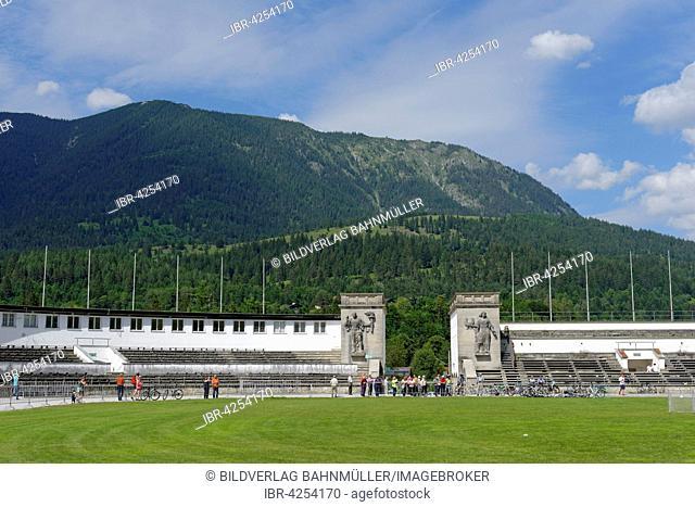 Olympiastadion, venue for 1936 Winter Games, Garmisch-Partenkirchen District, Upper Bavaria, Bavaria, Germany