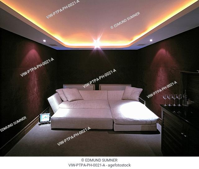 PRIVATE HOUSE, HYDE PARK GARDENS, LONDON, W2 PADDINGTON, UK, PTP ARCHITECTS LTD, INTERIOR, INTERIOR VIEW - HOME CINEMA