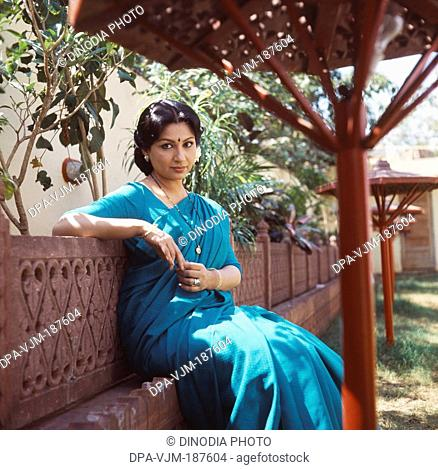 1985, Portrait Of Indian film actress Sharmila Tagore