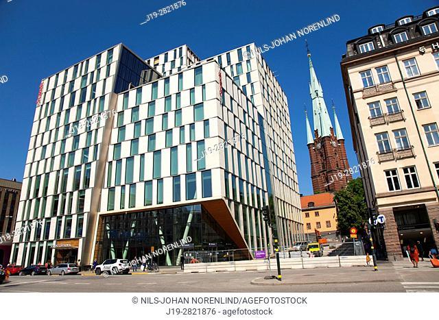 Scandic continental hotel and Klara church Stockholm, Sweden