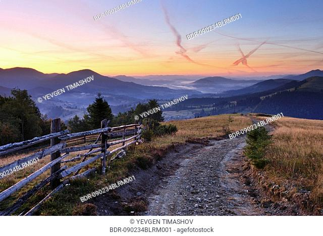 landscape in vorohta area of ukraine