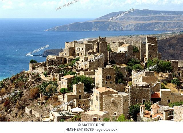Greece, Peloponnese, Mani Peninsula, Vatheia village