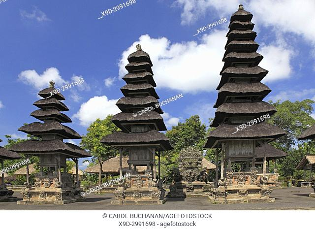 Shrines in the Holy Temple, Utama Mandala, in Pura Taman Ayun, the royal temple at Mengwi, Badung, Bali, Indonesia. This temple was was built in1634 during the...