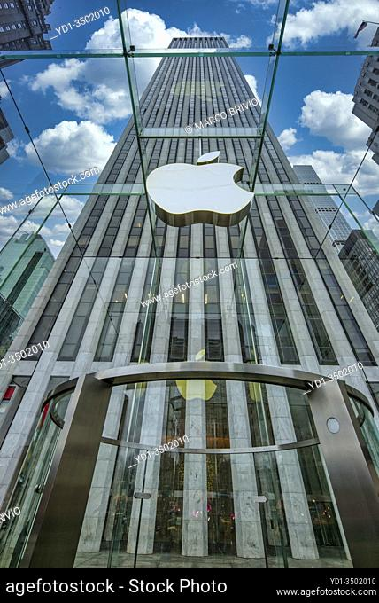 New York. Manhattan. Apple Store 5th Avenue