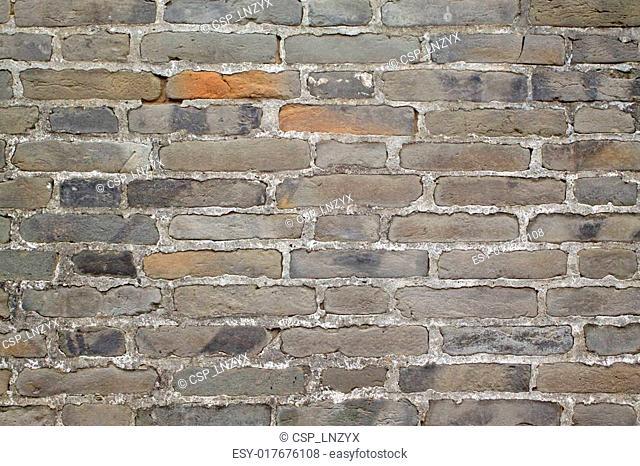 gray bricks wall in China's rural areas