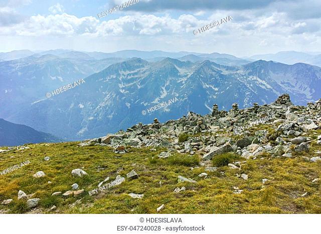 Landscape from Musala Peak, Rila mountain, Bulgaria
