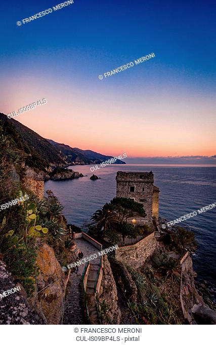 Monterosso al Mare at sunset, Cinque Terre, Liguria, Italy