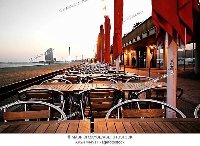 La Barceloneta Beach W Barcelona Stock Photos And Images